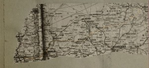 The map of one day journey