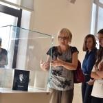 Jurgita Sprindziuniene during the lecture about artist's book