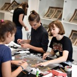 Artist's book workshop for the students