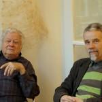 Opening of the artist's book exhibition in Basel. Dadi Wirz and Kestutis Vasiliunas